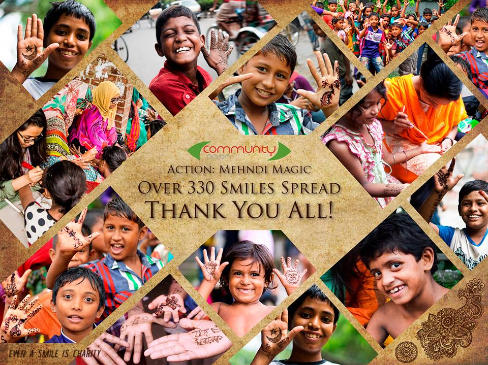 Indeed, smile is the greatest of all charity